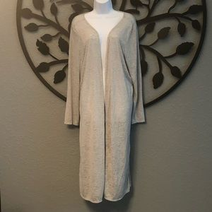 Long open from cardigan light weight plus size